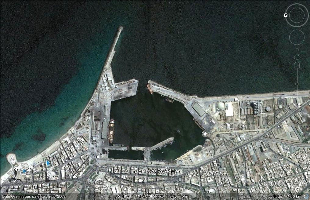 Aerial view of Sousse commercial port